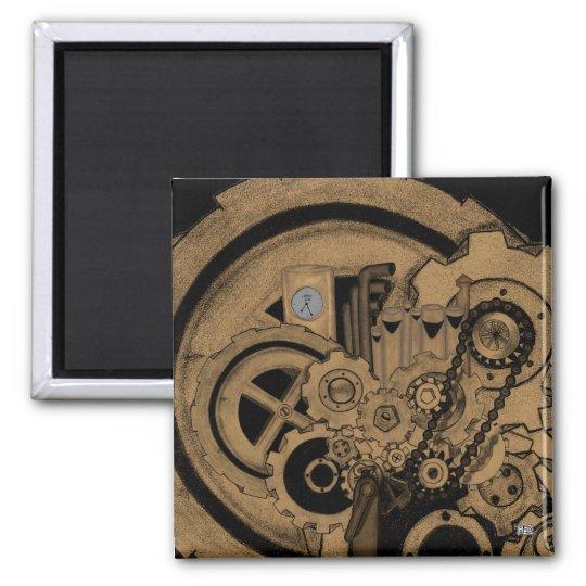 Steampunk Machinery (Brassy) Magnet