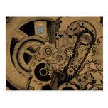 Steampunk Machinery (Brassy) Postcard