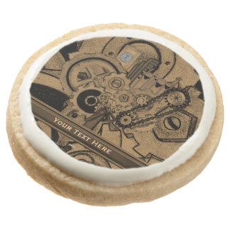 Steampunk Machinery (Brassy) Round Shortbread Cookie