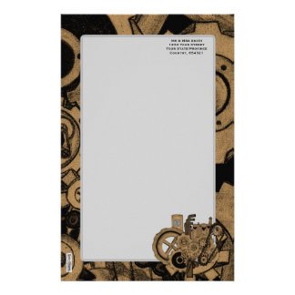 Steampunk Machinery (Brassy) Stationery
