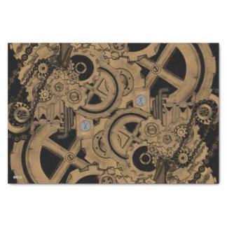 Steampunk Machinery (Brassy) Tissue Paper