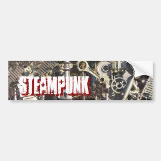 Steampunk machinery bumper sticker