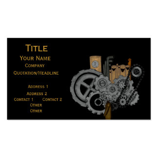 Steampunk Machinery Double-Sided Standard Business Cards (Pack Of 100)