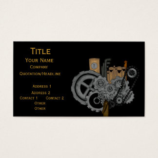 Steampunk Machinery Business Card