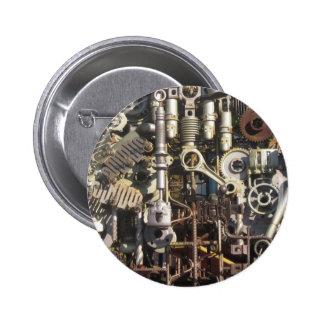 Steampunk machinery buttons