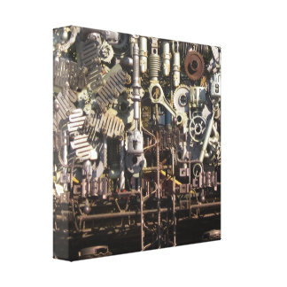 Steampunk machinery gallery wrap canvas