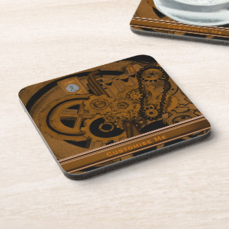 Steampunk Machinery (Copper) Beverage Coaster