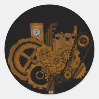 Steampunk Machinery (Copper) Classic Round Sticker