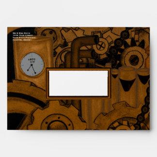 Steampunk Machinery (Copper) Envelopes
