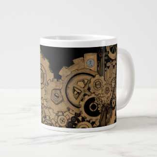 Steampunk Machinery (Copper) Large Coffee Mug