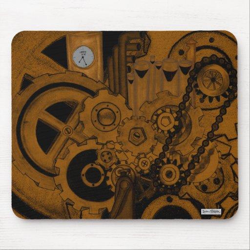 Steampunk Machinery (Copper) Mousepads