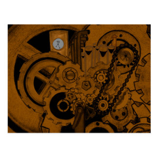 Steampunk Machinery (Copper) Postcard