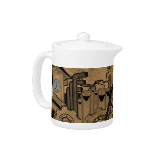 Steampunk Machinery (Copper) Teapot