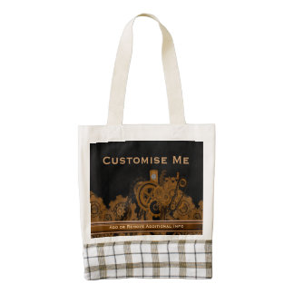 Steampunk Machinery (Copper) Zazzle HEART Tote Bag