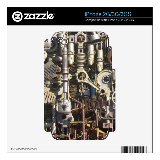 Steampunk machinery decal for the iPhone 3G