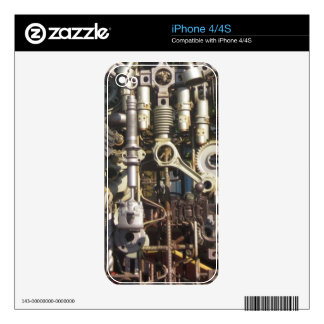 Steampunk machinery decals for iPhone 4S