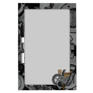 Steampunk Machinery Dry Erase Board