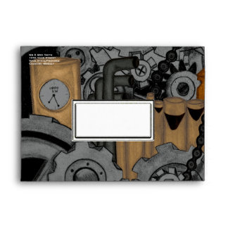 Steampunk Machinery Envelope