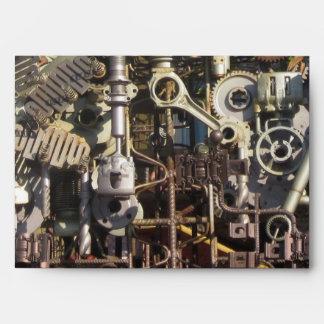 Steampunk machinery envelopes