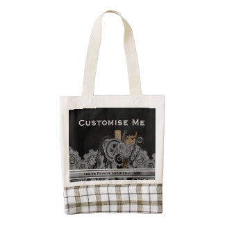 Steampunk Machinery (Full Colour) Zazzle HEART Tote Bag