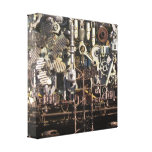 Steampunk machinery gallery wrap canvas