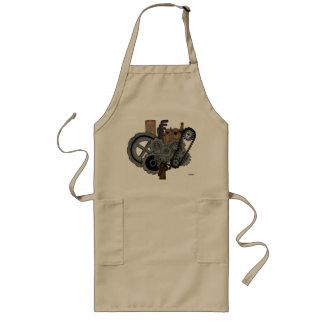Steampunk Machinery Long Apron