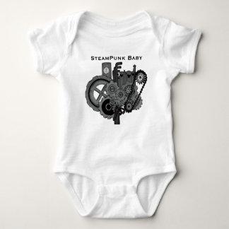 Steampunk Machinery (Monochrome) Baby Bodysuit