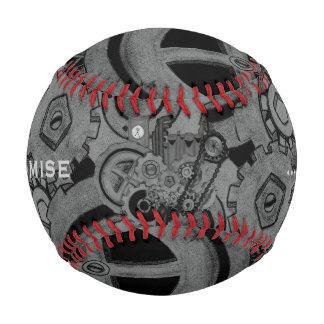 Steampunk Machinery (Monochrome) Baseball