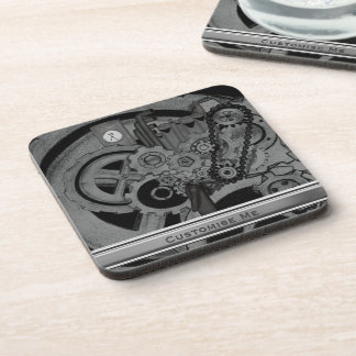 Steampunk Machinery (Monochrome) Drink Coasters