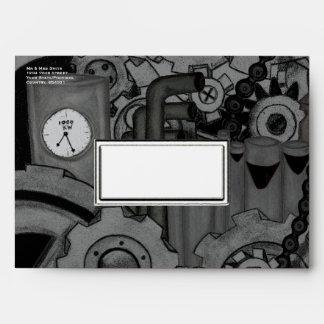 Steampunk Machinery (Monochrome) Envelope