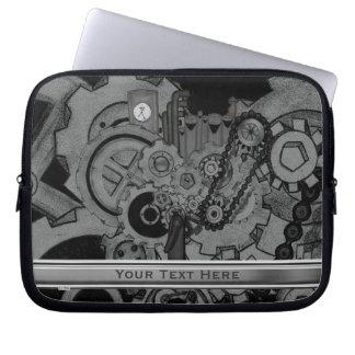 Steampunk Machinery (Monochrome) Laptop Sleeve