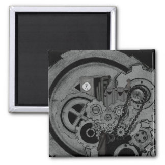 Steampunk Machinery (Monochrome) Magnet