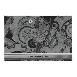 Steampunk Machinery (Monochrome) Placemat
