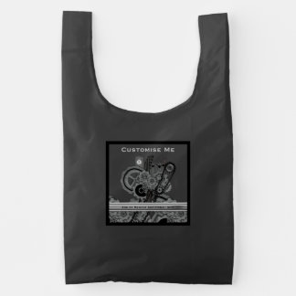 Steampunk Machinery (Monochrome) Reusable Bag