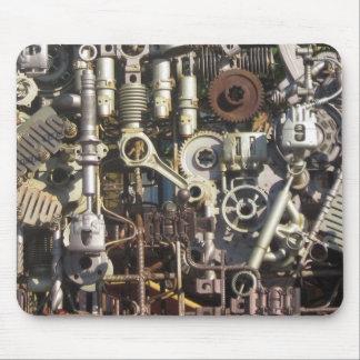 Steampunk machinery mouse pad