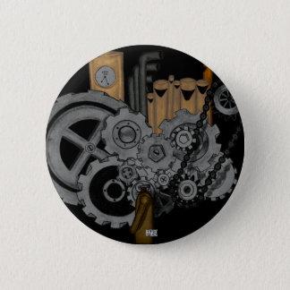 Steampunk Machinery Pinback Button