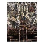 Steampunk machinery postcard