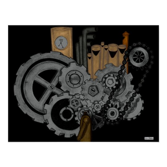 Steampunk Machinery Poster