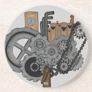 Steampunk Machinery Sandstone Coaster