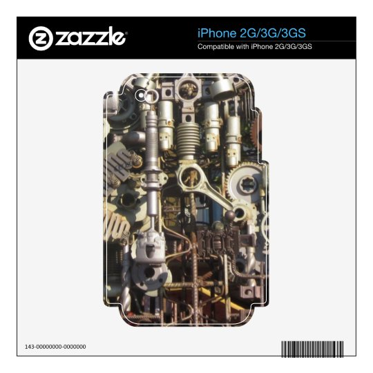 Steampunk machinery skin for the iPhone 3