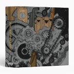Steampunk Machinery Vinyl Binder