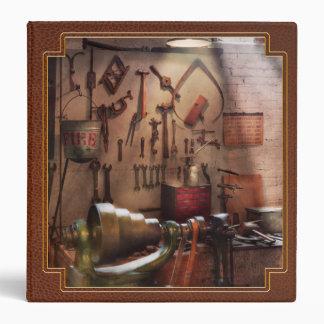 Steampunk - Machinist - The inventors workshop Vinyl Binder