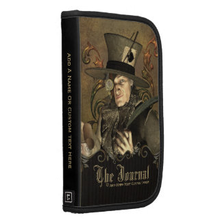 Steampunk Mad Hatter Personalized Folio Planner