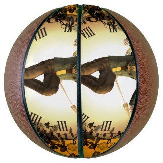 Steampunk, man on a clock basketball