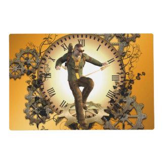 Steampunk, man on a clock placemat