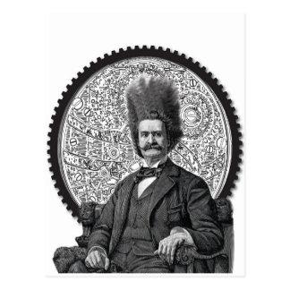 steampunk man postcard