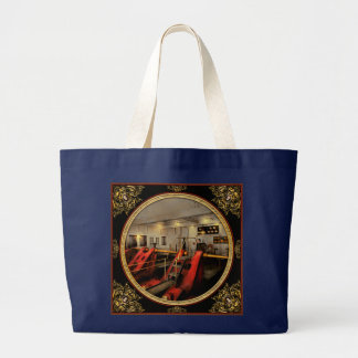 Steampunk - Man the controls 1908 Large Tote Bag