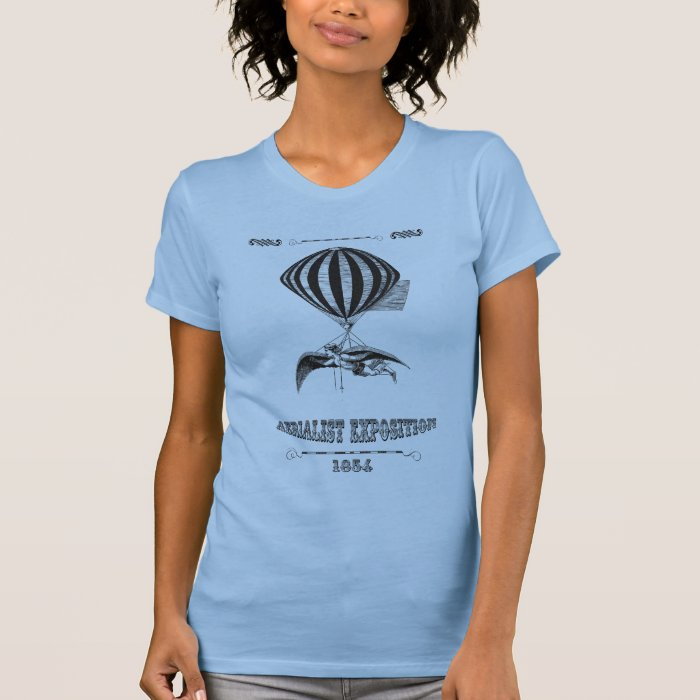 Steampunk Man with wings & balloon T-Shirt