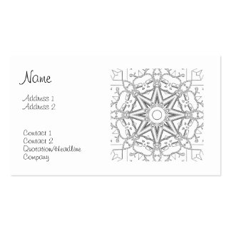 Steampunk Mandala Business Card Templates