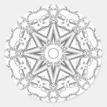 Steampunk Mandala Classic Round Sticker